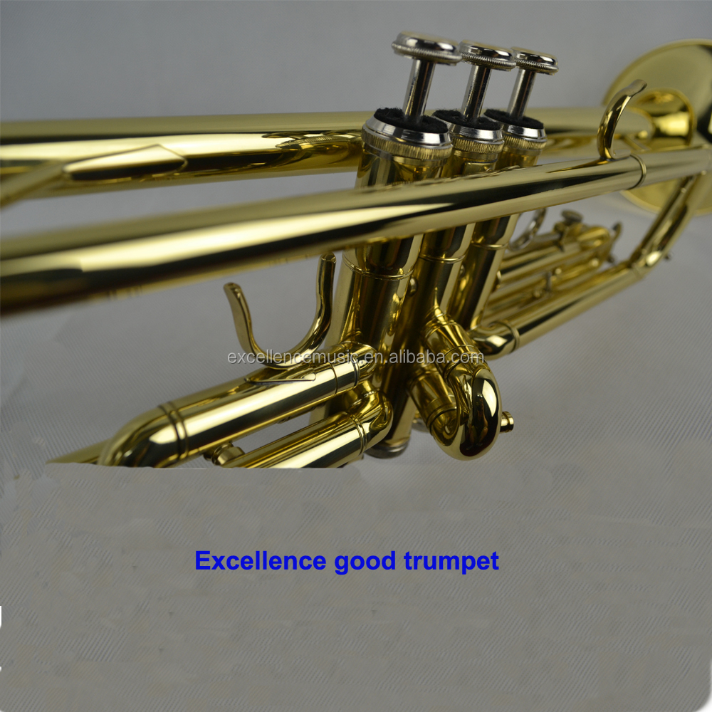 king excellence Brand Professional gold lacquer Bb Trumpet