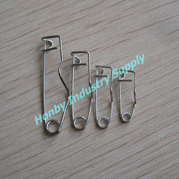 16mm, 19mm, 25mm,32mm Metal Crimp Safety Pin Name Tag Pin Back