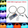 120mm Epistar chips DC12V 5050 smd Black PCB full circle cob 12v waterproof led ring light
