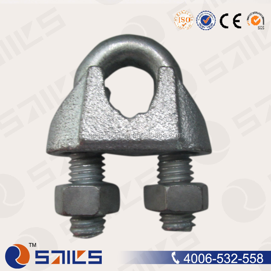 Electric Galvanized Zinc-plated Fasteners Malleable Iron Din 741 Wire Rope Clips
