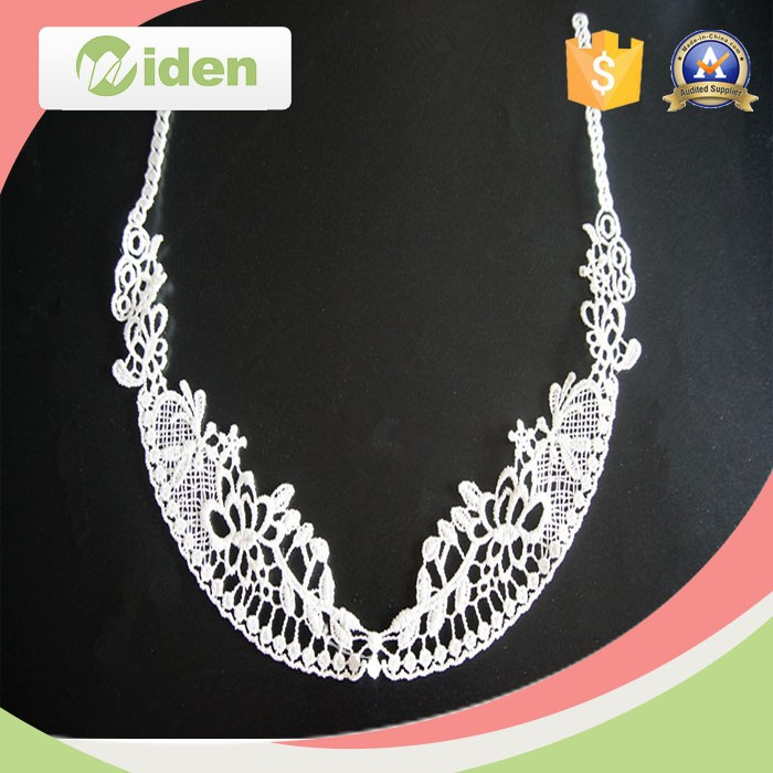 ID lace new design machine embroidery ladies suits neck lace design collar lace