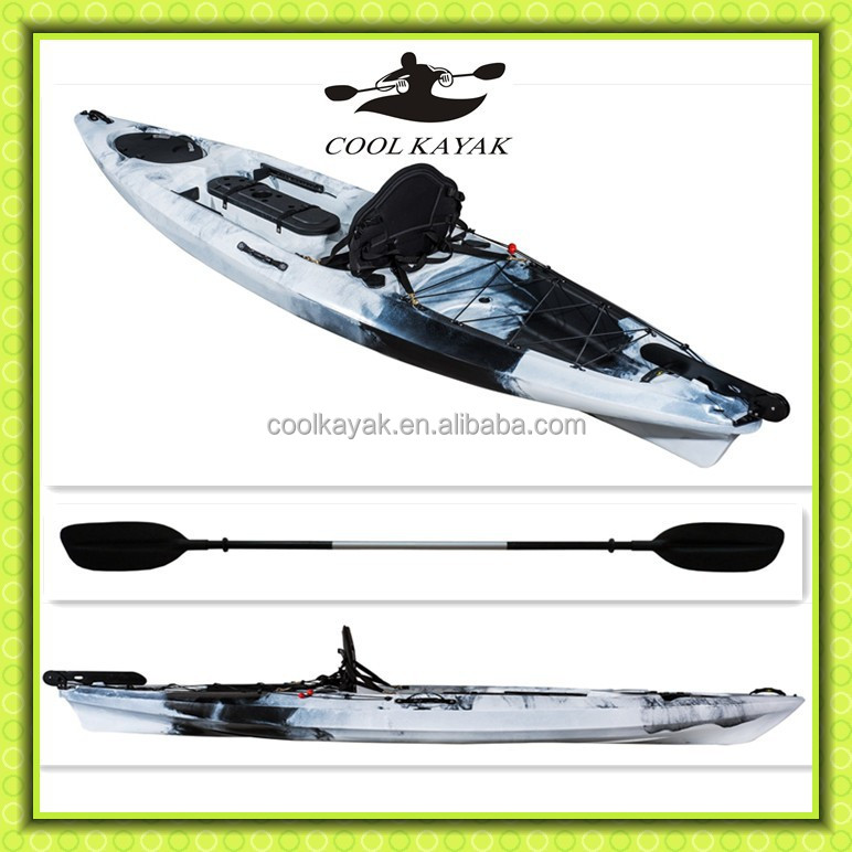 12 Ft Hot Sale Fishing Kayak With Rudder System Rowing