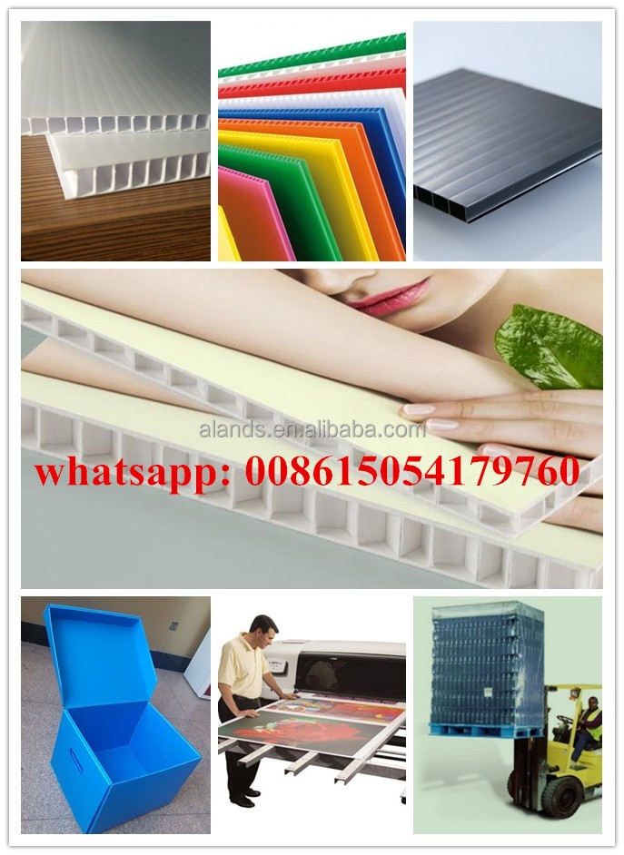 4mm PP Corrugated Plastic/Corflute Fluted Sheet/Correx Fluted Sheet