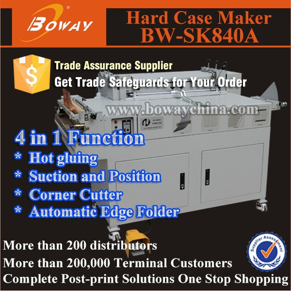BW-SK840A Multi function Semi-automatic hardcover book binding factory