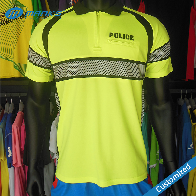Custom Cheap Price High Quality Reflective Safety Police Polo Shirt