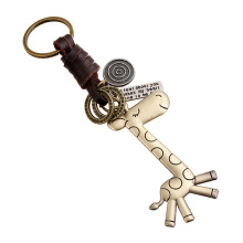 Fashion new design metal animal keychain shaped giraffe keychain