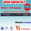 8PON GEPON OLT 40km Include PX20++ SFP Modules Support Layer 3Route