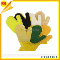 ZL 210065 Kitchen rubber Cleaning Sponge Gloves,yellow kitchen gloves