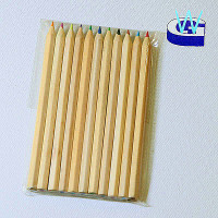 promotion gift sets school set 11 pieces natural wood color pencils set in pvc bag
