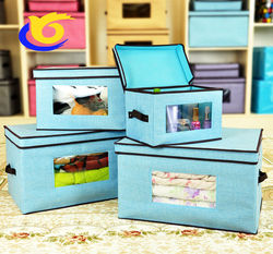 VIEWABLE FOLDABLE FABRIC STORAGE BOX