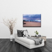 Hot sale sea sand sky nice nautral modern scenery canvas art painting