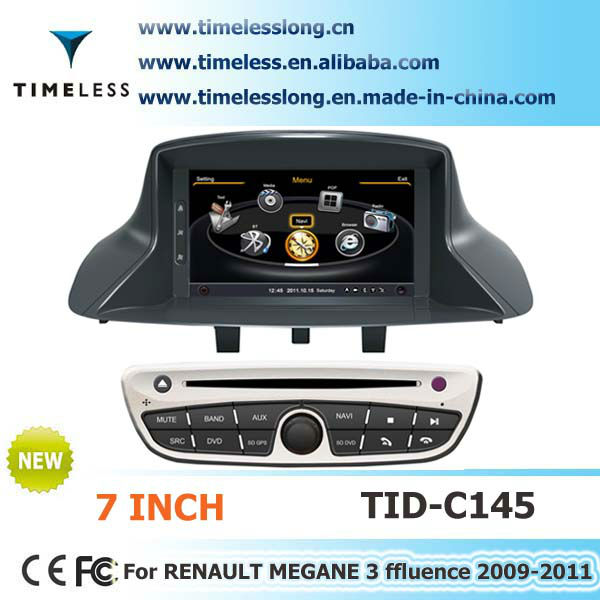 S100 Car DVD Player For Renault Fluence 2009-2011 with GPS A8 Chipset 3 zone POP 3G/wifi BT 20 dics playing