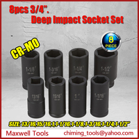 Industrial Socket Set 3/4 Inch Drive SAE/Metric Impact Socket Tool Box Set
