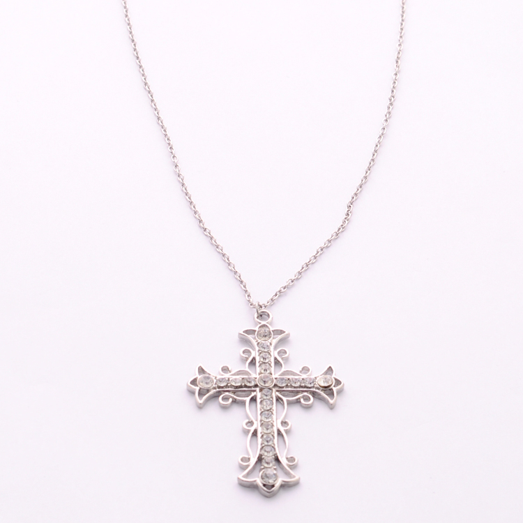 Yiwu Manufacture 925 silver cross necklace accessories for women