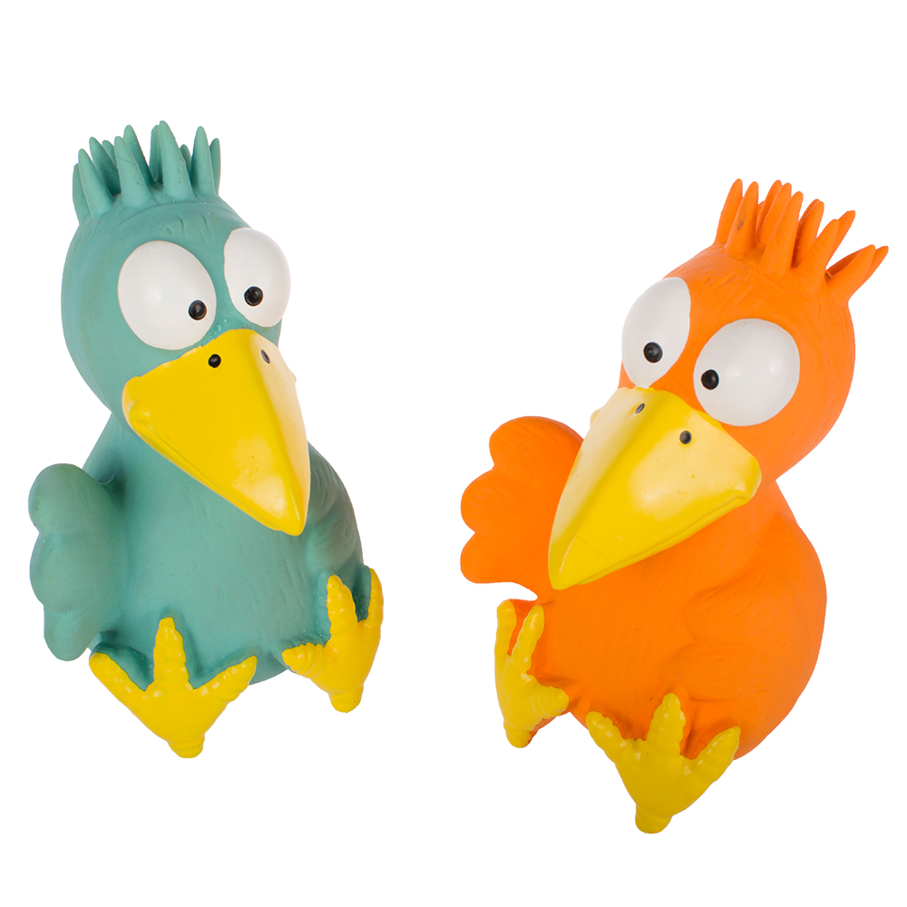 classic bird shape dog latex toys with sound
