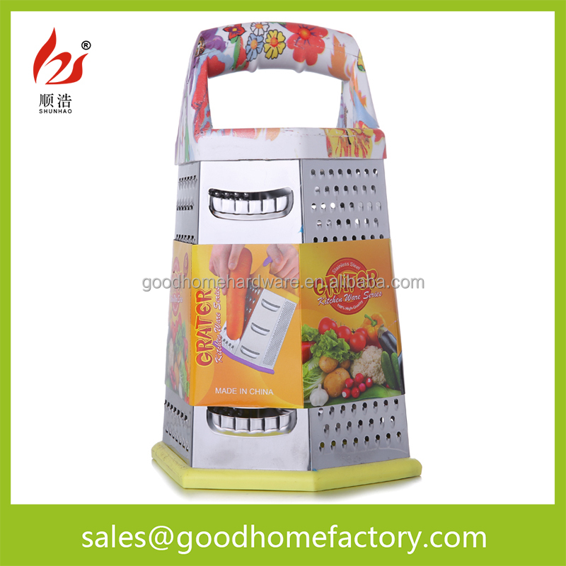 6 in 1 Boxed Multi-functional Spiral SS410 Vegetable Kitchen Cheese Grater