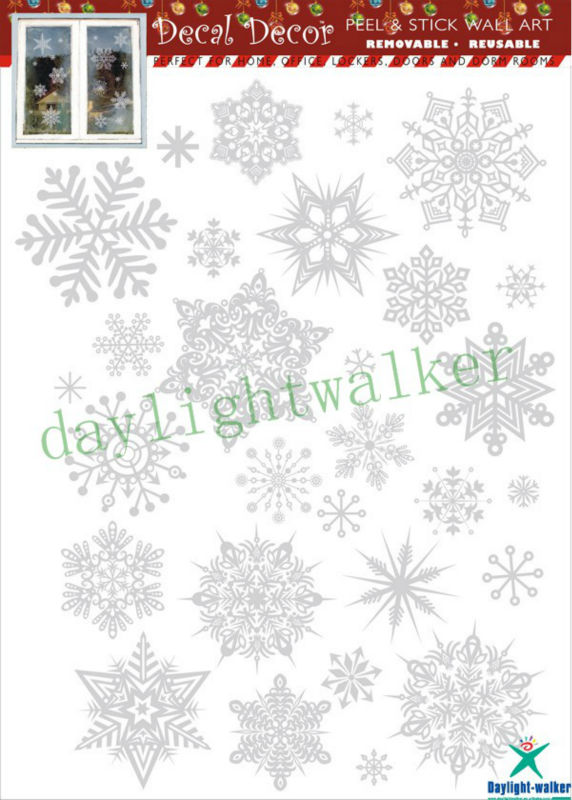 1120 waterproof transparent christmas cling static pvc window sticker