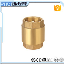 ART.4001 Durable Professional Competitive Price CW617n 1/2 inch Vertical Installation Brass Check Valve for Water, Oil and Gas