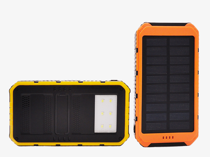 Waterproof solar power bank 10000mah universal cell phone battery charger portable 5V USB powerbank charger for smart phone