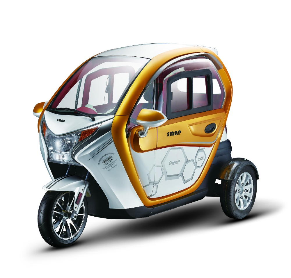 Transit IR 1000W60V50AH Electrical Trike 3 wheel Car tricycle for 2 passengers