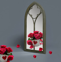 wrought iron mirror creative home toilet glass cosmetic mirror wall hanging mirror