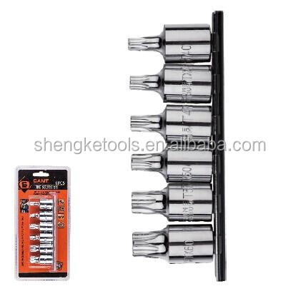 "6pcs 3/8"" Drive Bits Socket Set car hand tool set"