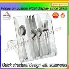 clear acrylic flatware display rack provided by Chinese counter flatware holder display manufacturer
