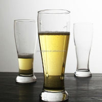 Guangzhou factory 425ml clear beer glass pilsner glass