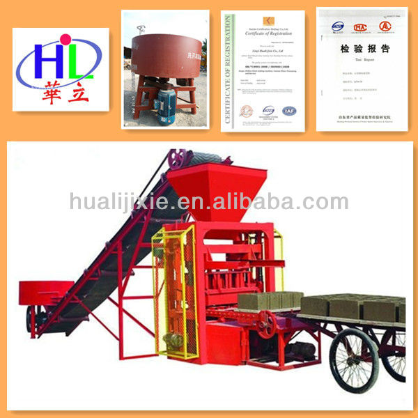 QTJ4-35B2 Stationary New Designed Concrete Brick Machine for Small Business