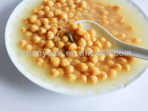 Organic Chinese Canned Chick Peas in Tins canned garbanzo