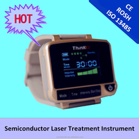 Hypertension natural blood pressure reducing soft laser therapy watch with 6 diodes laser