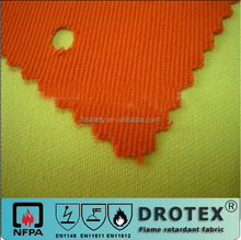 EN11611 EN11612 DoteX hot sales orange 100% cotton flame retardant fabric &anti-static fabric