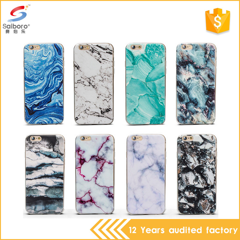 popular item tpu for iphone 7 case marble