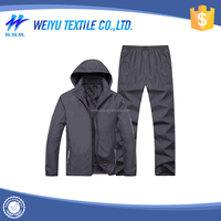 Latest customized long sleeve hooded jogging suits wholesale