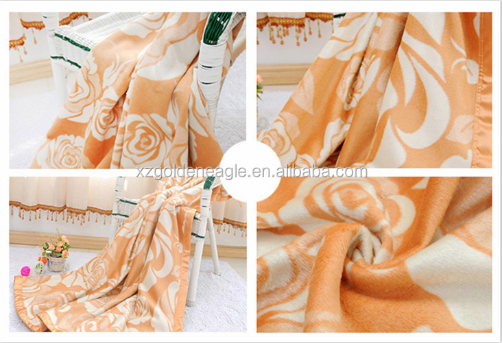 100% pure silk jacquard blanket with high quality