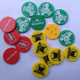 High quality custom colored plastic tokens