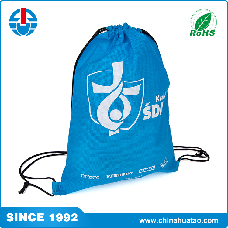 Fugang 2017 Cheap Promotional Recycled Non Woven Drawstring Shoe Bag