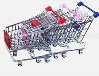 promotion gift desk miniature shopping cart