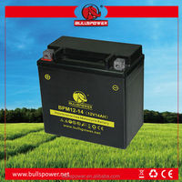 Hot sale 12v 14ah ytx14/7a-bs motorcycle battery