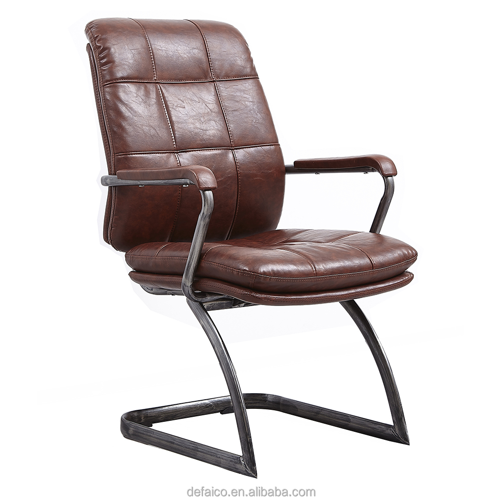 Modern leisure ergonomic european metal frame style sport leather office chair