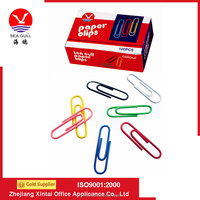 Paper Box Packaging Colorful Metal Plastic Coated Paper Clips With Hign Quality