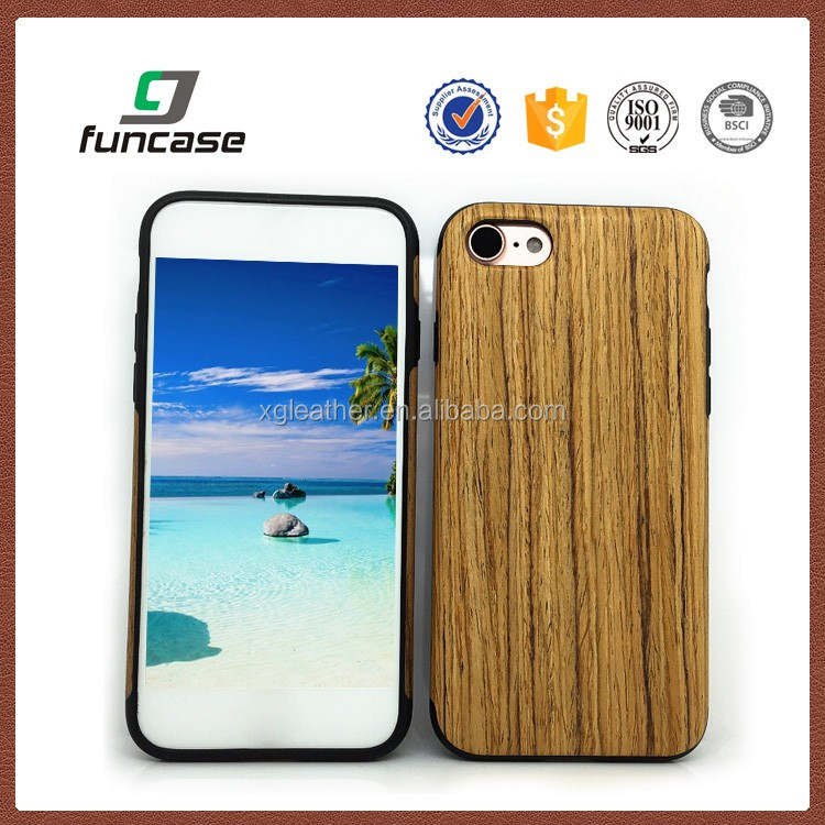 Hot sale waterproof wood phone case for samsung galaxy s7
