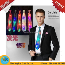 New fashion Led Neck Tie Mixcolor Flashing Male/Female Fashion Tie Party And Dancing Stage Glowing Tie for party supplies