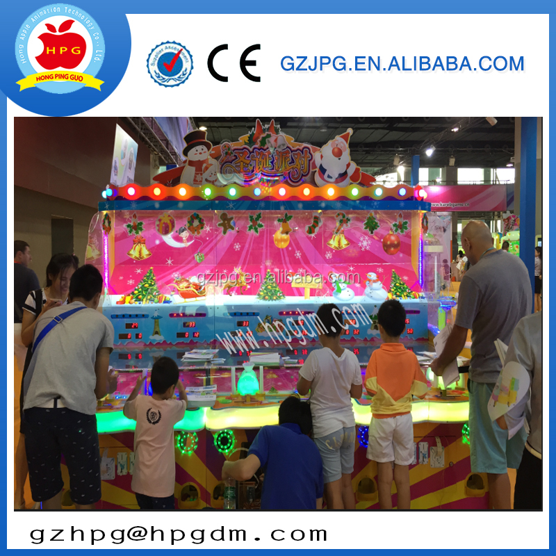 4 games in 1 christmas party most popular 6 players coin operated game machine with lottery