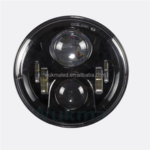 "DOT Emark Approval 7"" Led Headlight Motorcycle H4 LED Lamp H13 Black Projector Daymaker LED Light Blub Headlight For Harley"