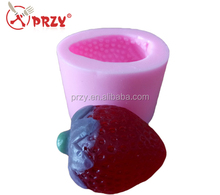 S4836 trawberry shape soap molds chocolate mould fruit silicone molds decorating cake mold