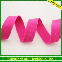 Colored flat braided polyester stretch elastic webbing