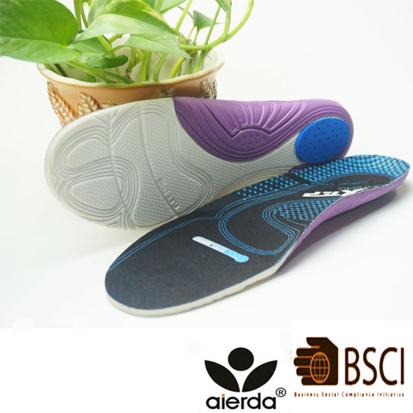 Non-Slip Cushion Heel Insole High Arch Support Eva Latex Pad Insoles