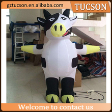 wholesale lovely walking parade inflatable parade cow costume