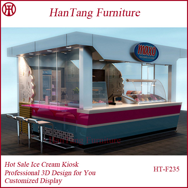 Shopping Malls Customized Cake Kiosk Design, Bread Display Showcase, Snack Bar Design